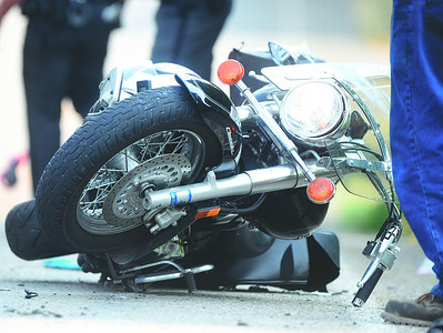 A motorcyclist was taken by a medical helicopter to a nearby hospital after crashing his motorcycle along South Benbrook Road Sunday afternoon. Firefighters from Unionville and West Sunbury responded, as well as the Butler Ambulance Service. Harold Aughton/Butler Eagle