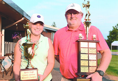 Paige Scott of Summit Twp. won the women's division of the Butler Eagle Amateur with a round of 66, while Geoff Patterson of Butler won the men's division with a round of 69. Harold Aughton/Butler Eagle