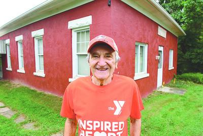 Jack Povlick, 83, of Butler Twp. owns the Eberhart School No. 6 building along Whitestown Road.  Harold Aughton/Butler Eagle