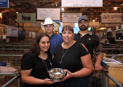 2021 Farm Family Morgan, 15, (left), Colt, 17, (back), mother Jodi and father Josh Teets. Seb Foltz/Butler Eagle 08/13/21