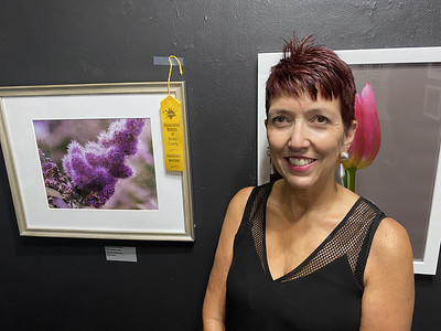 """Art B: is Honorable Mention """"Strictly Purple"""" photography by Donna Weckerly of Kittanning:"""