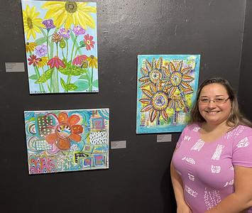 Art C: Rachael Caskey of Tarentum shows off acrylic paintings;
