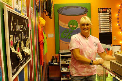 Pammie 1: Pammie Erskine, owner of Mars Candy Land, says that she hopes that community members take advantage of the giveaway. Julia Maruca/Butler Eagle