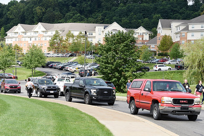 Parking spots were at a premium as students returned for the fall semester at Slippery Rock University Thursday afternoon. Harold Aughton/Butler Eagle