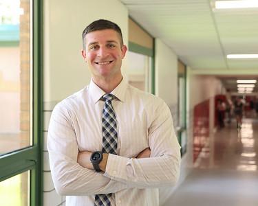 Slippery Rock High School vice principal Garrett Miller. Seb Foltz/Butler Eagle 08/25/21