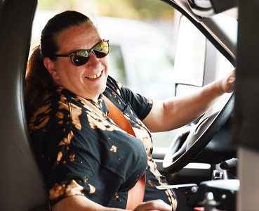 Bus driver, Susan Pint, of Bus 300 drops of students at Emily Brittian Elementary School for the first day of school. Harold Aughton/Butler Eagle