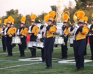 The Butler High School Golden Tornado Marching Band performs Thursday night at Art Bernardi Stadium during the school's annual Pie Festival fundraiser. Seb Foltz/Butler Eagle 08/26/21
