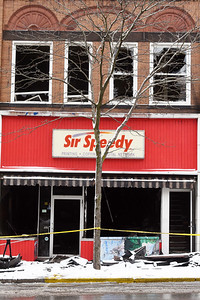 A four-alarm fire that broke out in the Sir Speedy building on South Main Street Saturday morning drew about 80 firefighters from 13 departments, according to Butler City Fire Department Chief Chris... Harold Aughton/Butler Eagle.