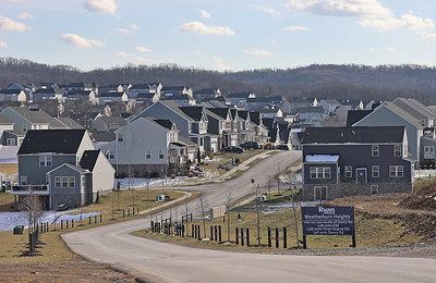 Weatherburn Heights neighborhood in Middlesex along Route 228, where proposed Sienna Village development is to be located. Seb Foltz/Butler Eagle 01/21/21
