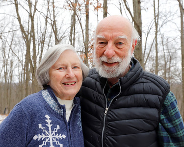Ruth Ann and Charlie McChesney. Charlie credits his walking regiment for maintaining his health into his 80s. Seb Foltz/Butler Eagle 01/29/21