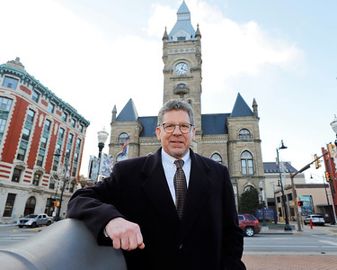 Judge Thomas Doer stands in frontthe Butler County courthouse Tuesday. Seb Foltz/Butler Eagle 1/6/21