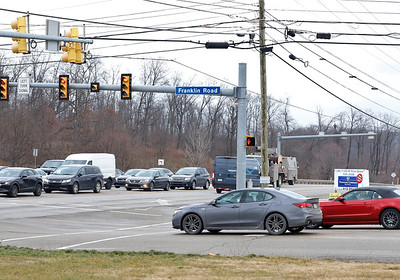 Intersection of Route 228 and Franklin Road in Cranberry. Seb Foltz/Butler Eagle 01/05/20