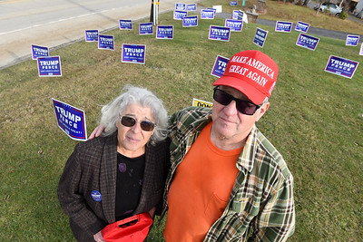 Trump supporters, retirees Rose and David Wilson of Parker. Wednesday, January 13, 20201. Harold Aughton/Butler Eagle.