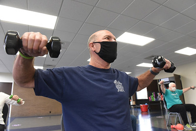 """Steven Appel of Chicora was diagnosed a year ago with Parkinson. He now takes part in the Exercise for Parkinson class at the YMCA. According to Appel, """"It's incredible. Everybody ought to do it to loosen up. That's the key to keep movin'."""" Monday, January, 11, 2021. Harold Aughton/Butler Eagle."""