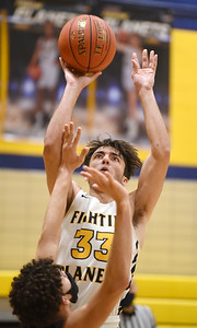 Mars Mihali Sfanos, 33, attempts the last shot of the game with only seconds on the clock for the win Friday, January 15, 2021. Harold Aughton/Butler Eagle.