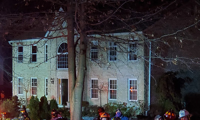 Multipe fire crews responded to a structure fire Wednesday night at 106 Hazelwood Drive in Cranberry Township. Nathan Bottiger/Butler Eagle