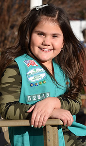 Girl scout Tessa Carbungco of Saxonburg is selling girl scout cookies online this year due to the pandemic. Harold Aughton/Butler Eagle