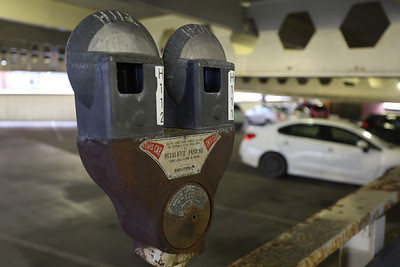 Parking meter in the Tier Parking Garage/Morgan Washington Center and Redevelopment Authority. Seb Foltz/Butler Eagle 01/22/21