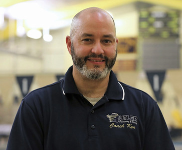 Retiring Butler dive team coach Ken Bedford. Seb Foltz/Butler Eagle 01/27/21