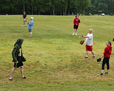 A group of Butler County locals at Alemeda Park joined a national effort to break Guinness Book of World Records record for the number of people playing catch. Seb Foltz/Butler Eagle 06/30/21