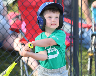 Carson Ball takes a swing in a 4-6 Center Township baseball game this week. Seb Foltz/Butler Eagle 06/23/21