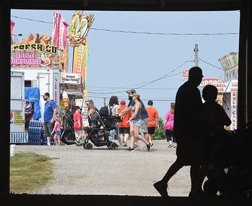 Fairgoers were at the Big Butler Fair early Monday morning. The fair runs through Saturday July 10, 2021. Harold Aughton/Butler Eagle.