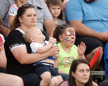 The grandstands were full Saturday night for Bullride Mania at the Big Butler Fair. Events included bull riding, barrel racing and mutton busting.  Harold Aughton/Butler Eagle