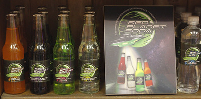 Students from the Mars Robotics Association designed the packaging for Red Planet Soda, which is available now to purchase at Mars Candy Land with proceeds benefiting the student organization. PHOTO: Julia Maruca