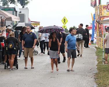 Rain didn't dampen too many spirits at Cranberry Community Days Thursday. The annual fair runs through Saturday. Sebastian Foltz/Butler Eagle 07/08/21