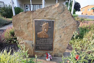 Gregory Adams memorial in Saxonburg. Seb Foltz/Butler Eagle 07/06/21