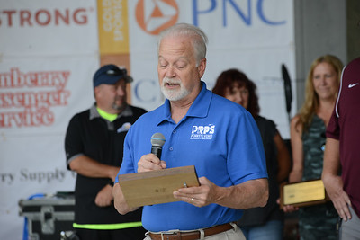Pennsylvania Recreation and Parks Society CEO Tim Herd presented remarks congratulating Cranberry's parks and recreation workers at Saturday's Community Day festivities. Photo: Julia Maruca