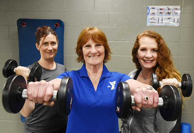 YMCA trainers, from left, Yvonne Patterson, Sandy Ihlenfeld, Heidi Nicholls Bowser