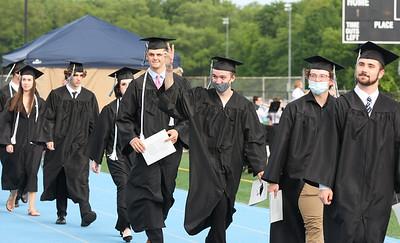 Students walk at Seneca Valley graduation Tuesday. Seb Foltz/Butler Eagle 06/01/21