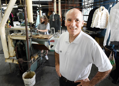 Steven Hutchinson, owner of Hutchinson Cleaners, is closing the family's dry cleaning buisness after 95 years of service. Harold Aughton/Butler Eagle.