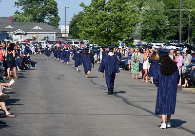 Mars Area School District held its 2021 high school graduation in the parking lot. Harold Aughton/Butler Ealge.