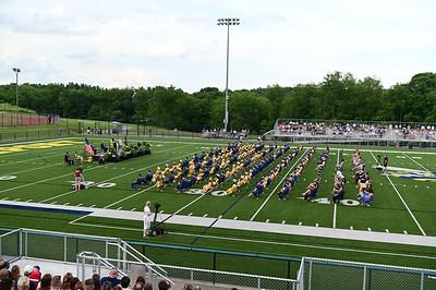 Freeport High School Graduates gather for the ceremony held at Freeport High School Staduim on Tuesday June 8, 2021 (photo by: Jason Swanson)