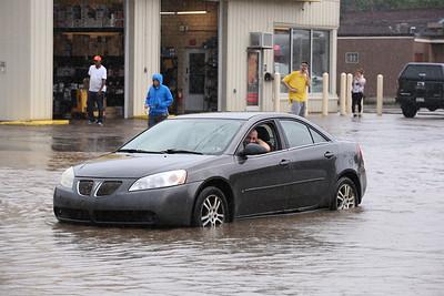 A stranded motorist on New Castle Street Wednesday. Seb Foltz/Butler Eagle 06/09/21