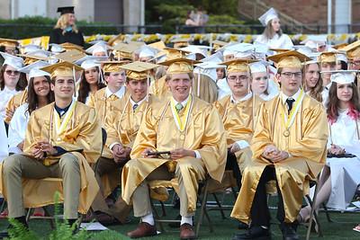 Students sit for Butler High School Graduation Friday night. Seb Foltz/Butler Eagle 06/04/21