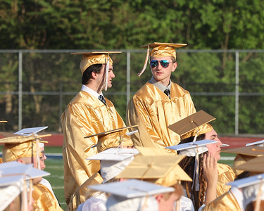 Students entering the armed forces stand to be acknowledged at Butler graduation Friday. Seb Foltz/Butler Eagle 06/04/21