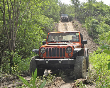 Jeep Fest goers ride on the new trails at Jeep Fest 2021, off of Kildoo Road near McConnells Mill. Seb Foltz/Butler Eagle