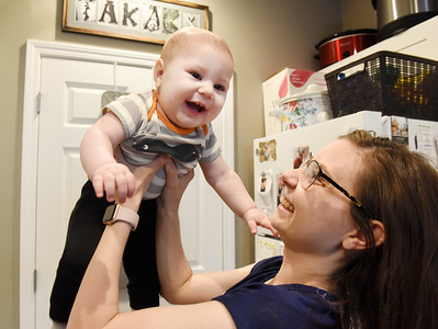 Tylor Tackas & her 10 month-old-son Elias. Harold Aughton/Butler Eagle