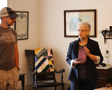 Butler County Historical Society director Jennifer Ford gives a tour of the Lowrie House Saturday. Seb Foltz/Butler Eagle 06/19/21