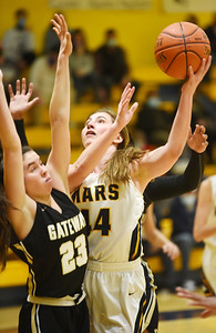 Mars Madeline Horuath, senior, goes up for a layup in the first period against Gateway Monday, March 1, 2021. Harold Aughton/Butler Eagle.