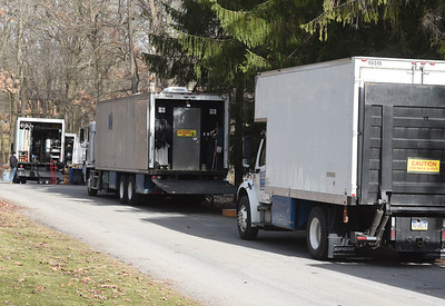 Netflix set at 117 Timber Ridge Road, Clinton Twp. Monday, March 15, 2021. Harold Aughton/Butler Eagle.