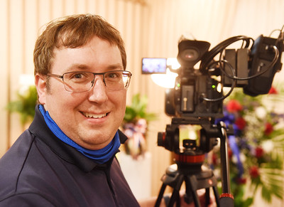 Due to covid restrictions at funerals, videographer Mark Hoffer of Evans City has seen an increase in business. Harold Aughton/Butler Eagle.