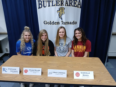 Left to Right: Stephanie Adkisson, Paige Miller, Maci Lineman, Gabrielle Boden