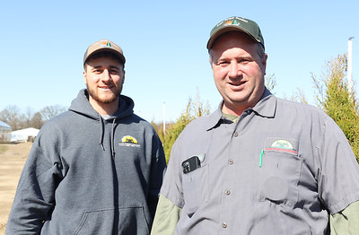 Jason and Kevin Dambach of Lake Forest Gardens nursery in Fombell. Seb Foltz Butler Eagle March 2021