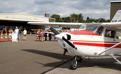 The Pittsburgh-Butler Airport celebrated 90 years of serving Butler County and the surrounding communities this weekend. Festivities included food trucks, free plane rides and other activities. Seb Foltz/Butler Eagle