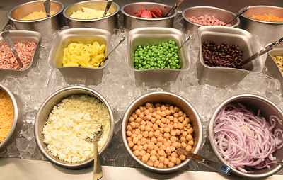 The salad bar at Eat'n Park is back with the opening of the brand new store along New Castle Road in Butler. Harold Aughton/Butler Eagle.