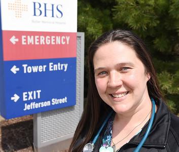 Butler Health System RN, Shawna Alben. Harold Aughton/Butler Eagle